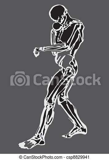 Human body made in eps Articulation - csp8829941