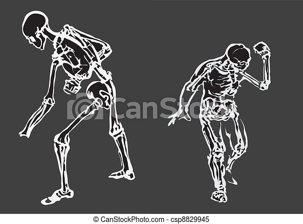 Human body made in eps Articulation - csp8829945