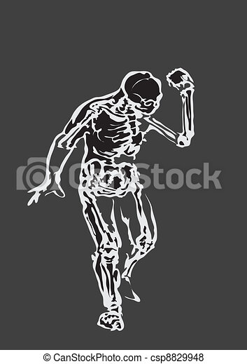 Human body made in eps Articulation - csp8829948