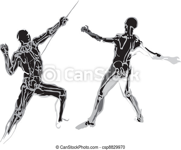 Human body made in eps Articulation - csp8829970