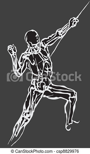 Human body made in eps Articulation - csp8829976