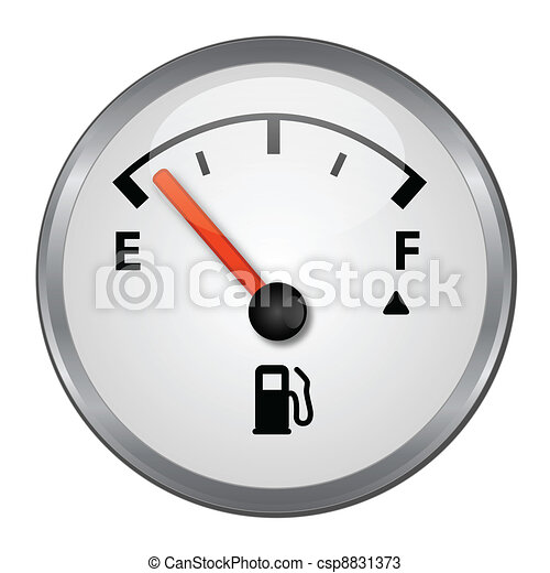 Empty Gas Tank Illustration - csp8831373