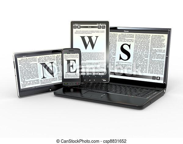 Clip Art of Media. Electronic news. 3d - Media. Text NEWS ...