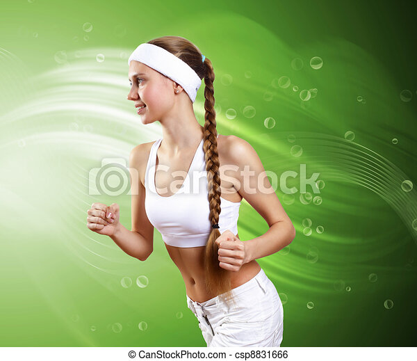 Young healthy woman doing sport - csp8831666