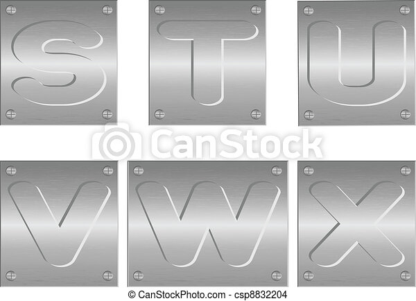 embossed letters and figures - csp8832204