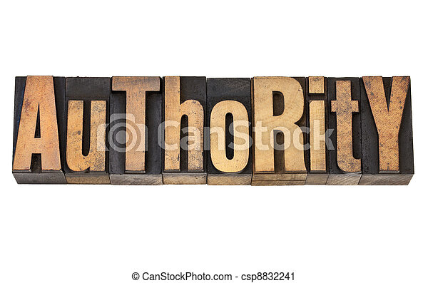 authority in letterpress type - csp8832241