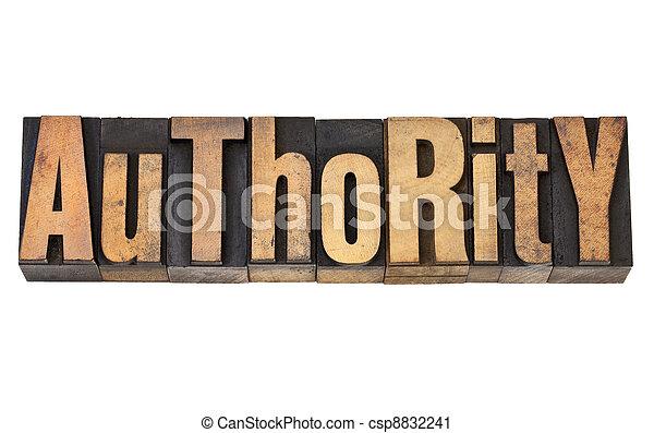 authority in letterpress type - csp8832241