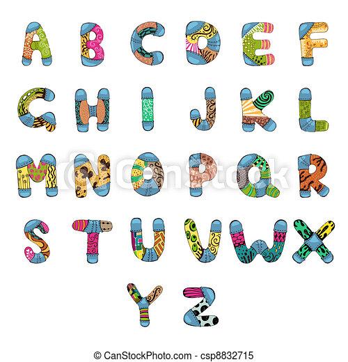 ABC Alphabet - csp8832715