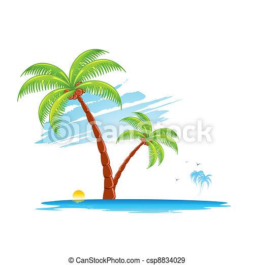 Palm Tree - csp8834029