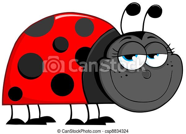 Ladybug Cartoon Character - csp8834324