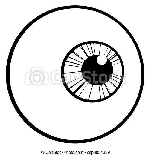 Outlined Eye Ball - csp8834339