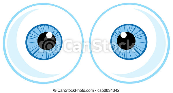 Two Blue Eye Balls - csp8834342
