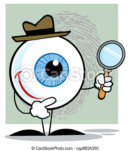 Detective Eyeball Holding A Magnify - csp8834350