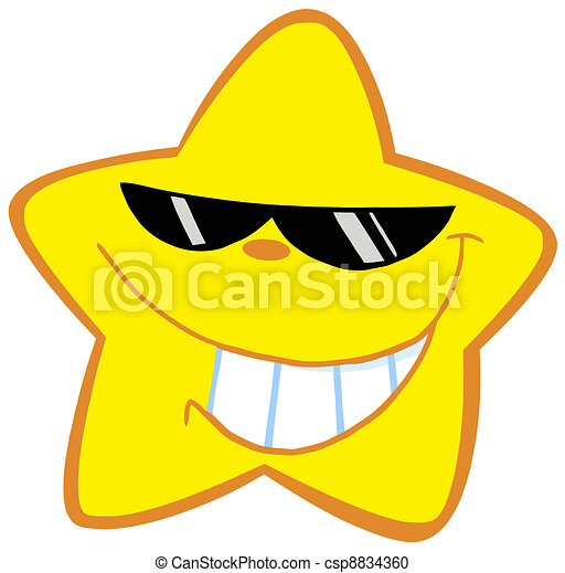 Happy Little Star With Sunglasses - csp8834360