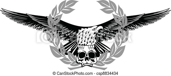 eagle and skull - csp8834434