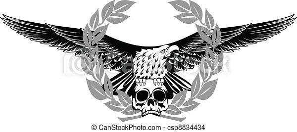 eagle and skull  - csp8834434