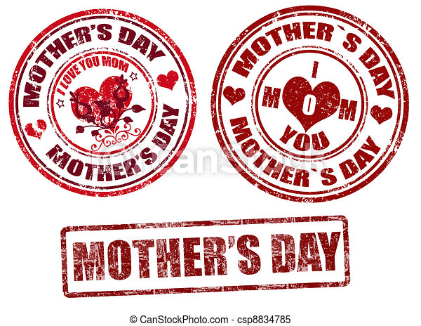 Mother's day stamps - csp8834785