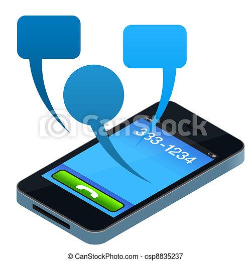 Social Mobile Phone - csp8835237