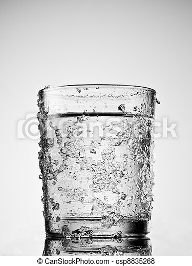 Glass Of Water Clip Art Black And White