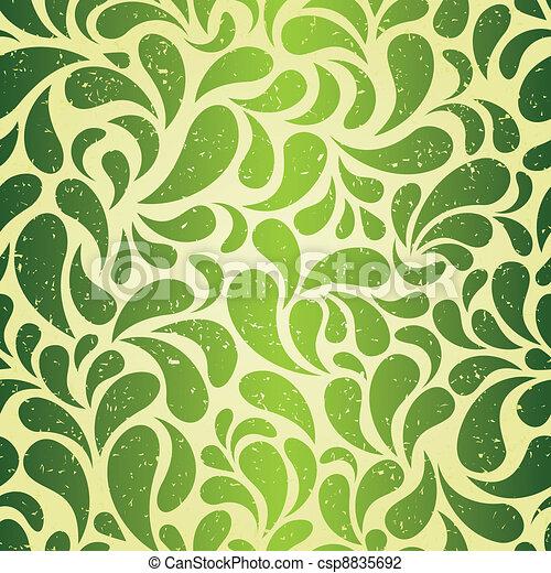 Green vintage wallpaper - csp8835692