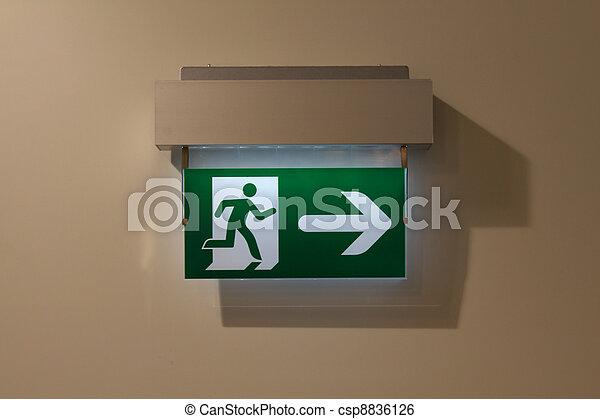 Emergency exit sign - csp8836126