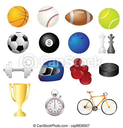 Sport items icons - csp8836507
