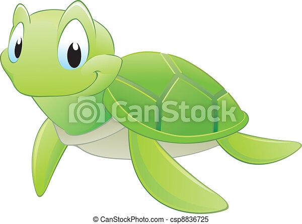 Cartoon Turtle - csp8836725