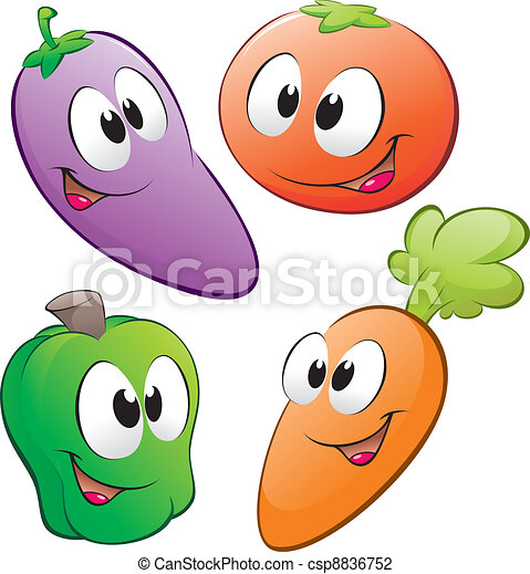 Cartoon Vegetables - csp8836752