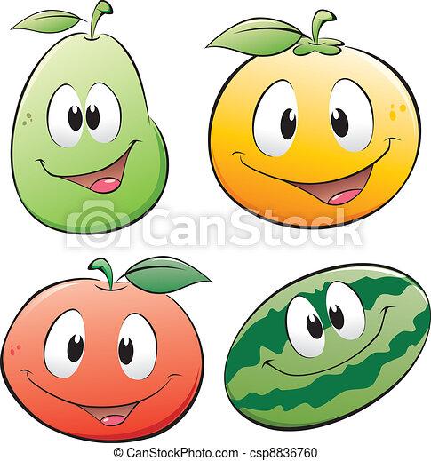 Vector Clip Art de caricatura, fruta - vector, Ilustración ...