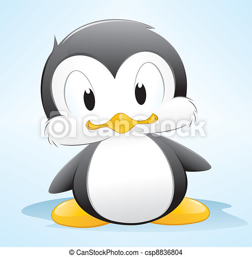 Cartoon Penguin - csp8836804