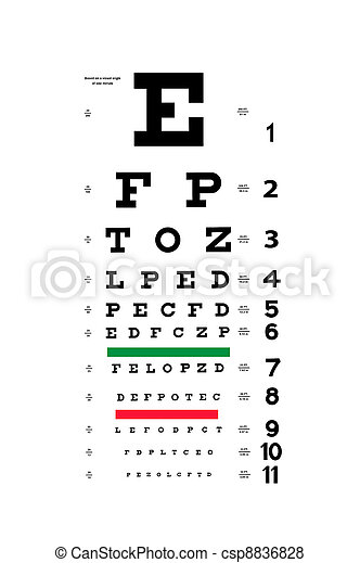 Eye test chart - csp8836828