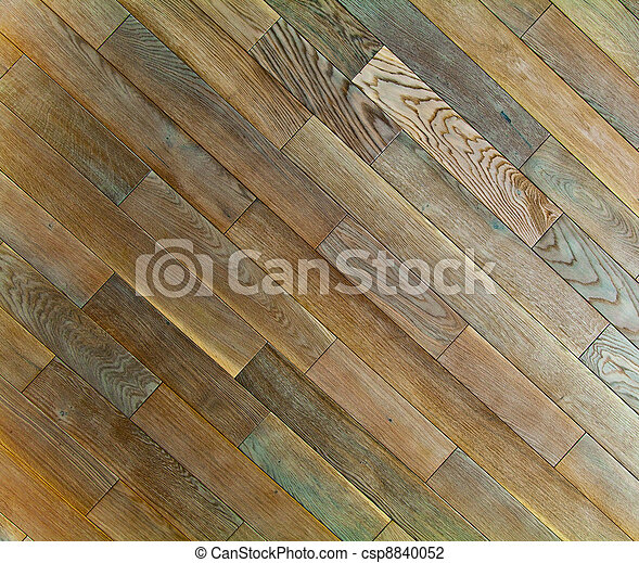 Oak wood texture of floor with natural patterns - csp8840052
