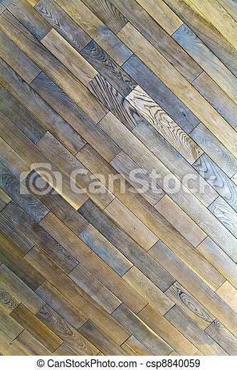 Oak wood texture of floor with natural patterns - csp8840059