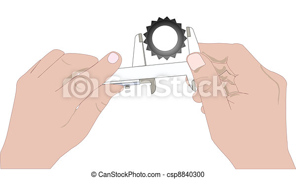 Hands with caliper - csp8840300