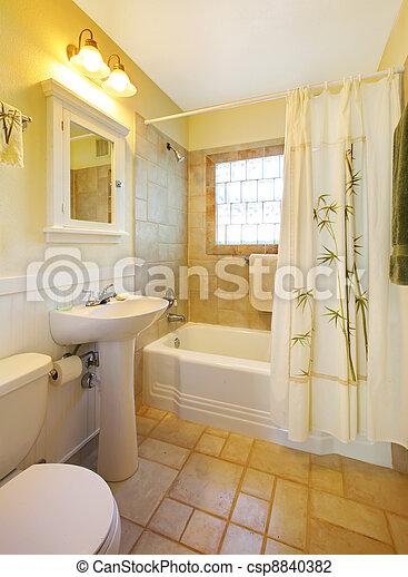 Stock fotos de peque o cuarto de ba o moderno blanco - Bano pequeno moderno ...
