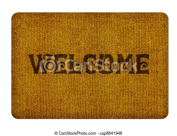 welcome cleaning foot carpet  - csp8841948