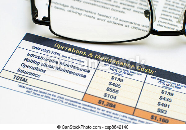 Operating costs and revenues - csp8842140