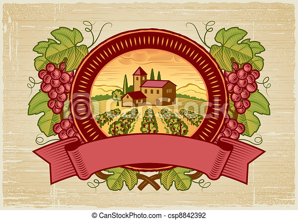 winogrona, żniwa, etykieta - csp8842392