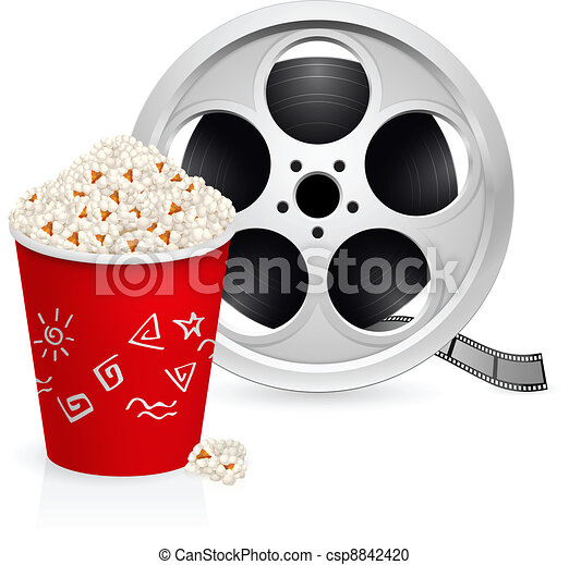 The film reel and popcorn - csp8842420