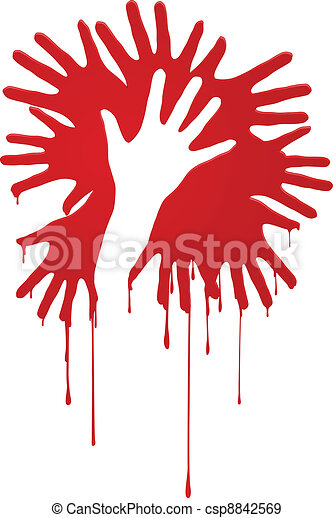 Abstract bloody hands - csp8842569