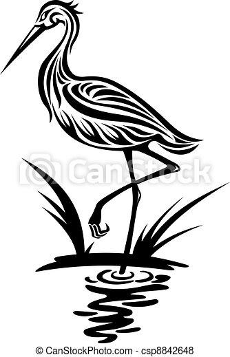 Heron bird - csp8842648