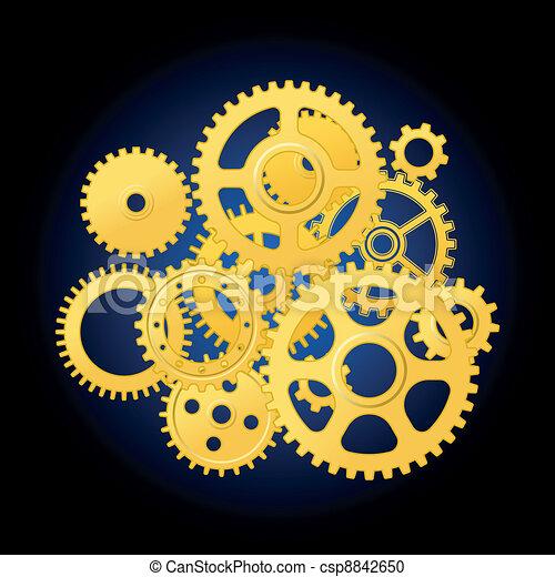 Clipart Vecteur De Rouage Horloge M 233 Canisme Clockwork