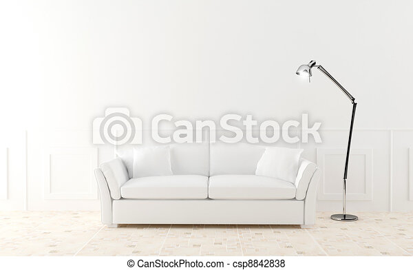 White sofa in luminous room - csp8842838