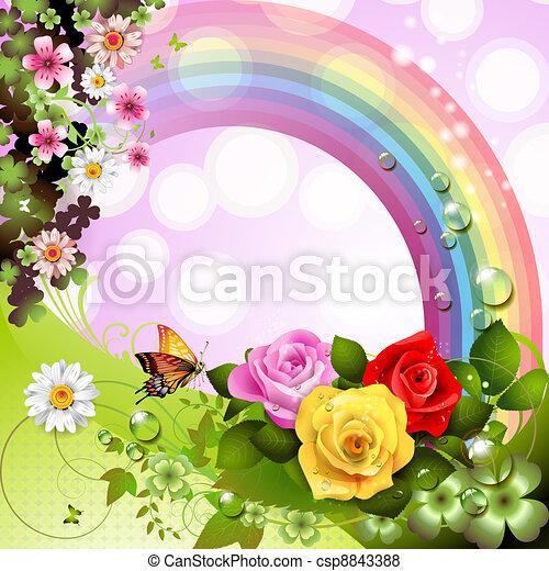 Springtime background - csp8843388