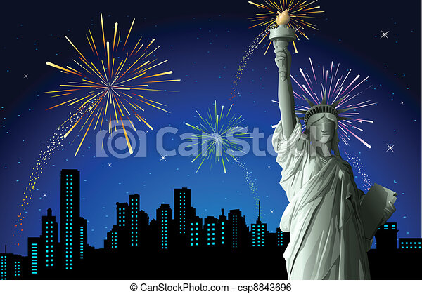 Statue of Liberty - csp8843696