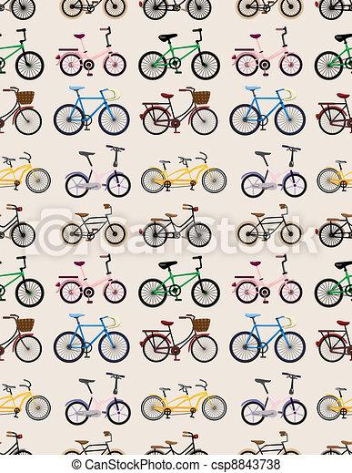 seamless bicycle pattern - csp8843738