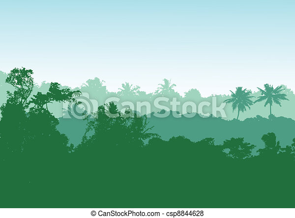 Tropical forest background - csp8844628