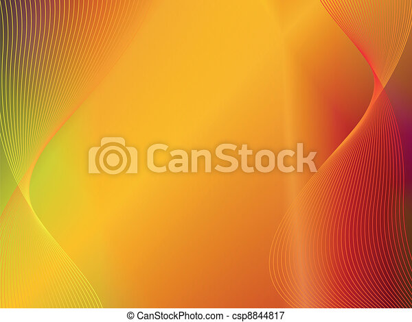 yellow orange gold abstract background with wave - csp8844817