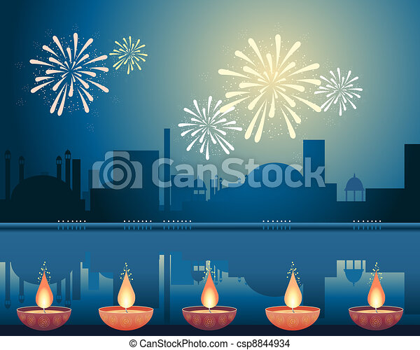 diwali festival - csp8844934