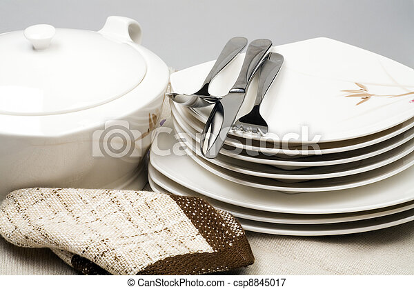 Pure ware and napkins in home cuisine - csp8845017